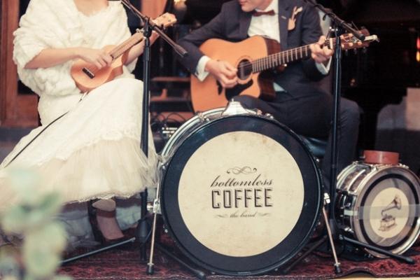 Bride and groom wedding band