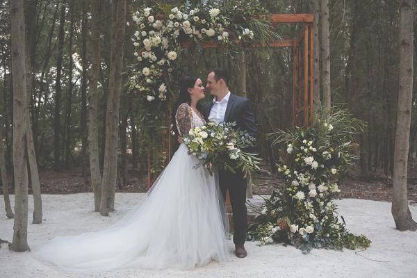 c9aedbfe2abc Edgy Fairytale Forest Wedding - Aisle Society