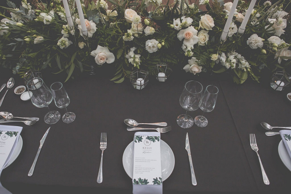 Place Setting with Greenery Menu