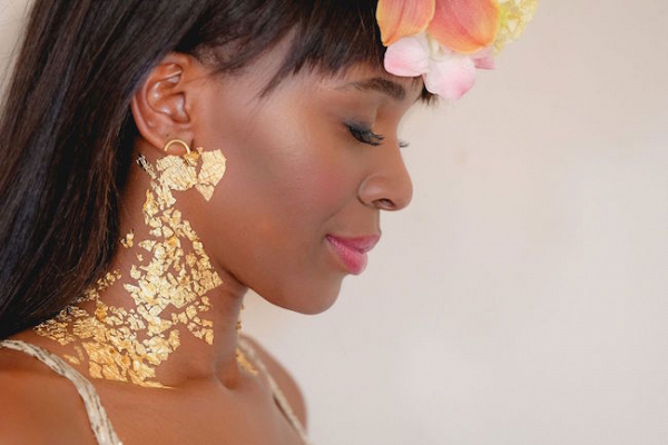 Gold Foil Makeup