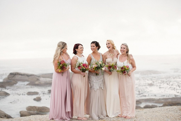 Mismatched Pastel Bridesmaids