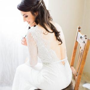 Lace Sleeve Casey Jeanne Wedding Dress