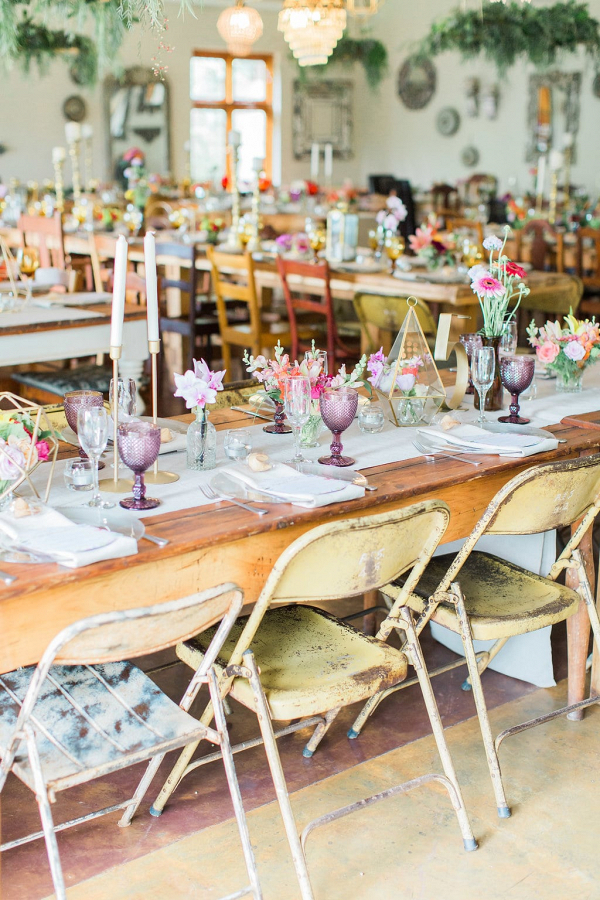 Colorful Rustic Tables