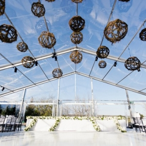 Clear marquee reception