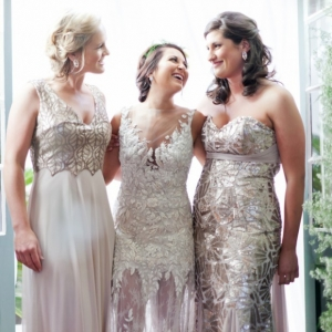 Embellished bridesmaid dresses