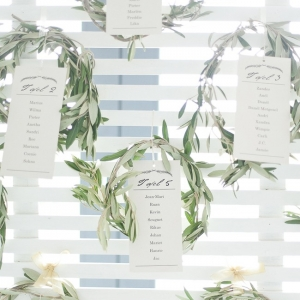 Olive wreath table plan