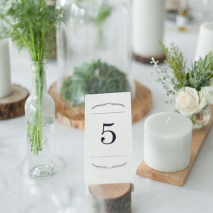 Simple organic wedding table