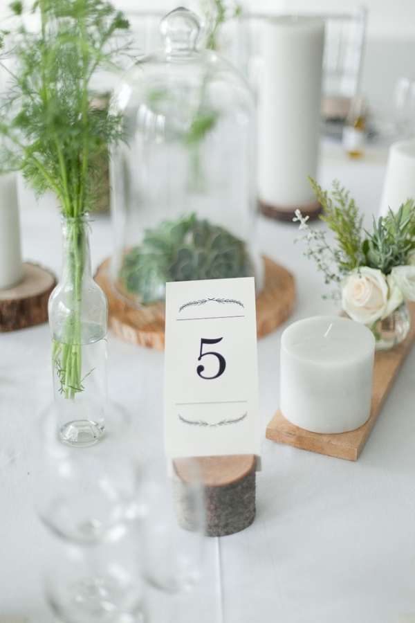 Simple organic wedding table