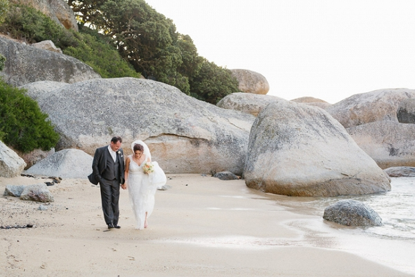 Bride & Groom on Beach