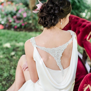Elegant Wedding Dress with Back Detail