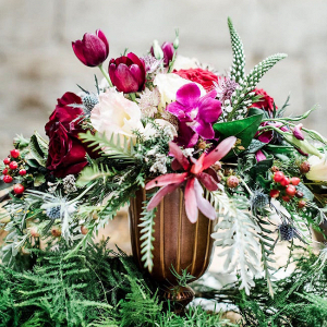 Jewel Tone Floral Centerpiece