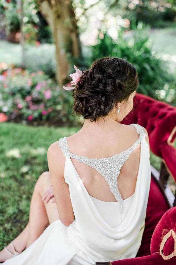 Elegant Wedding Dress with Back Detail