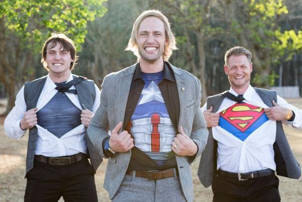 Superhero Groomsmen