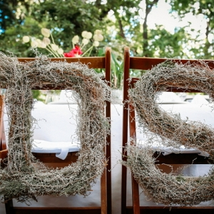 Rustic chair monogram