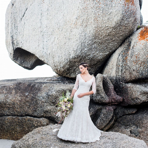 Bride on Clifton Beach