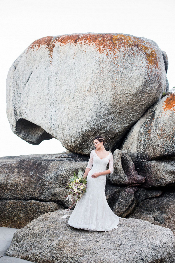 Bride on Clifton Beach