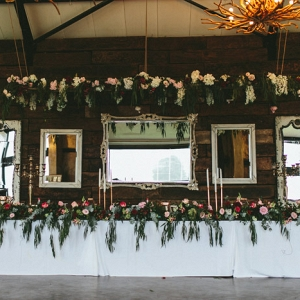 Head Table with Floral Decor