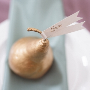 Gold Pear Placecard