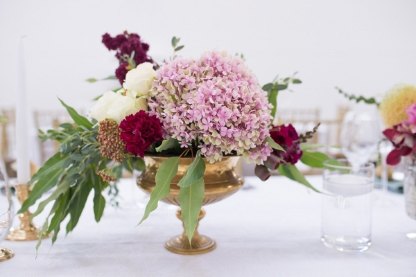 Centerpiece with Brass Vase