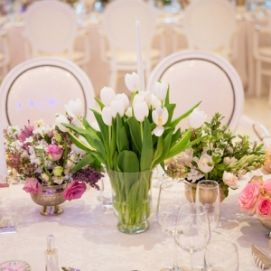 Multiple centerpiece table decor