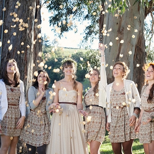 Fall Bride & Bridesmaids