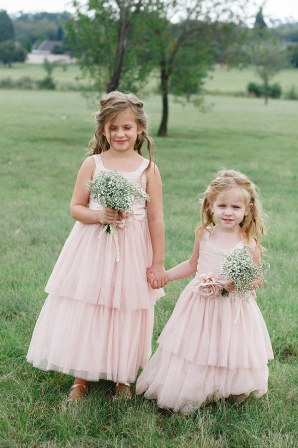 Flower Girls in Tiered Dresses