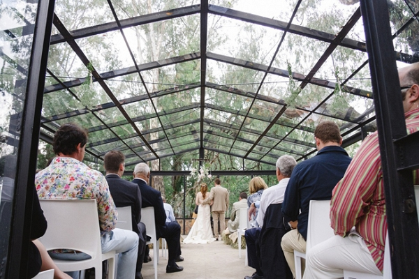 Forest Wedding in Glass Chapel