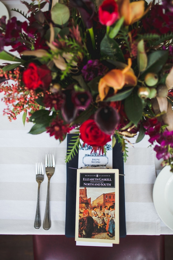 Place Setting with Book Favor