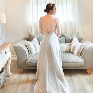 Ivory Dress with Back Detail