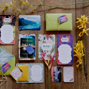 Tropical Themed Stationery Suite
