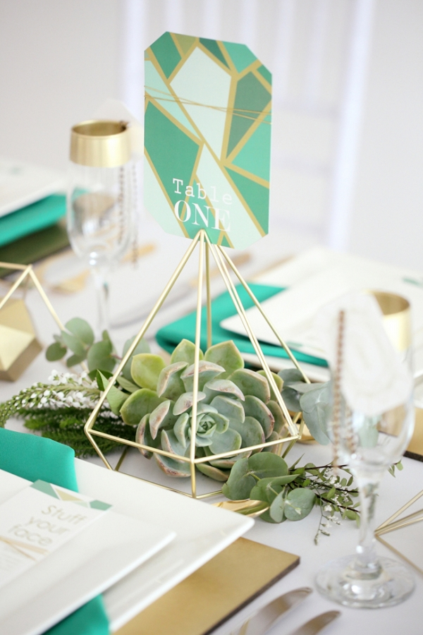 Geometric Inspired Table Decor
