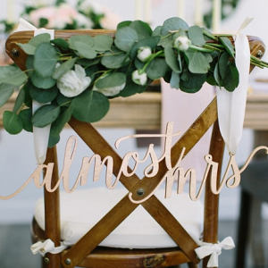 Bridal Shower Chair Decor