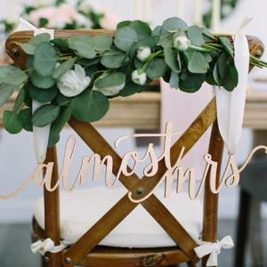 Bridal Shower Chair Decor