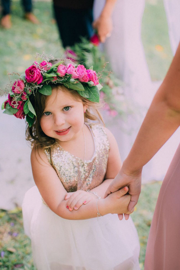 Flower Girl in Sequin Dress