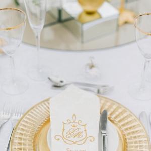 Elegant Gold Place Setting