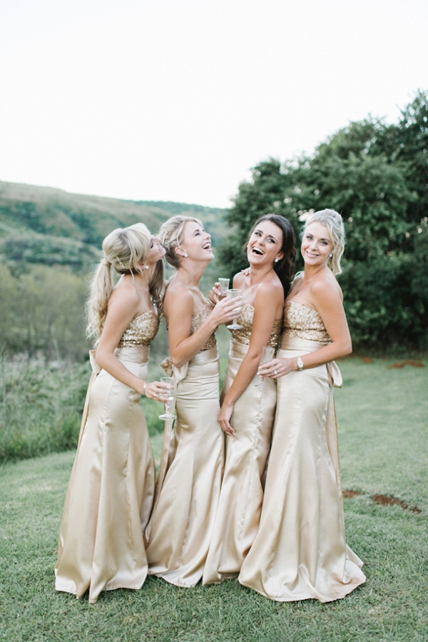 Glamorous Gold Bridesmaid Dresses
