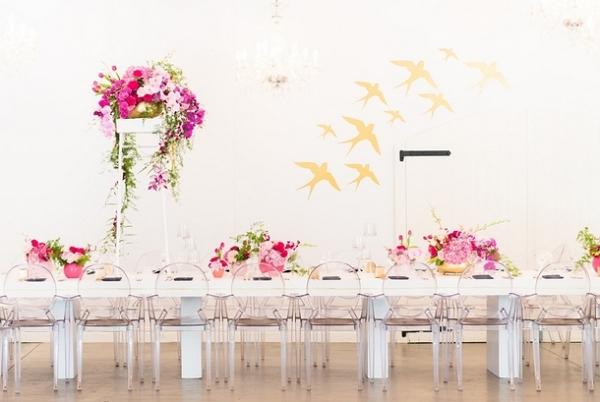 Glamorous Modern Reception Decor