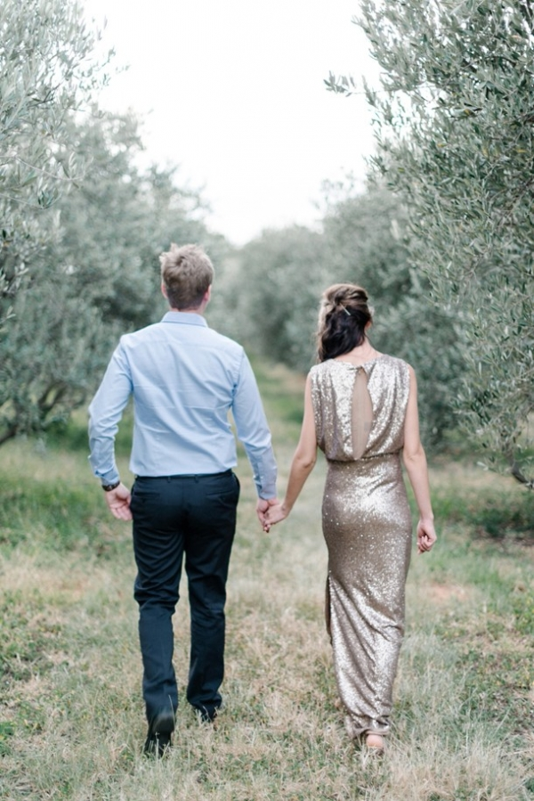 Olive grove engagement
