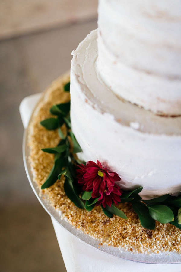 Semi Naked Wedding Cake with Glitter Base