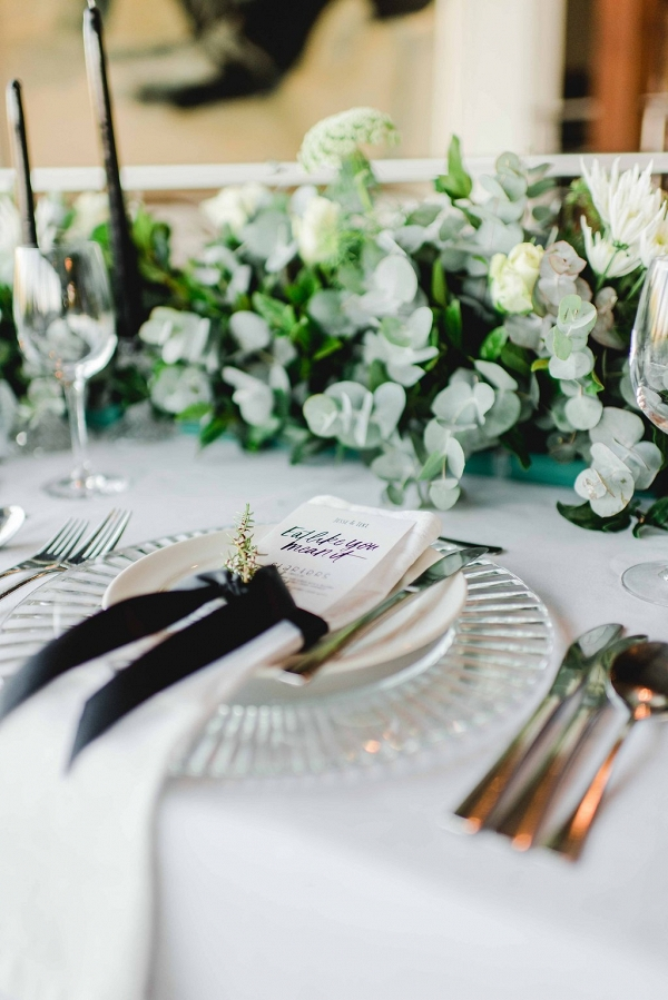 Place Setting with Ribbon Tie
