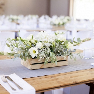 Centerpiece in Wooden Crate