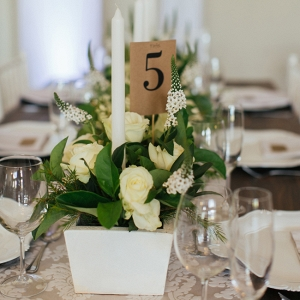 White rustic tablescape