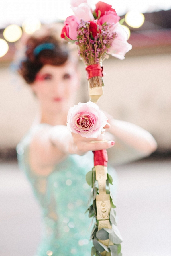 Floral Bow and Arrow