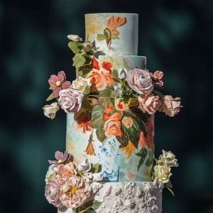 Handpainted Wedding Cake