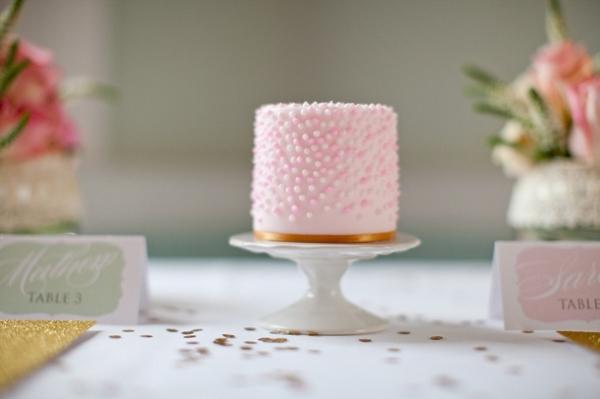 Pink Mini Wedding Cake