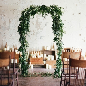 Organic Industrial Wedding Ceremony Arch