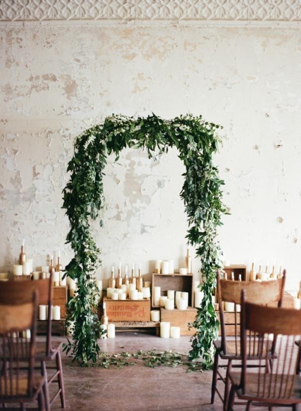 Organic Industrial Wedding Ceremony Arch