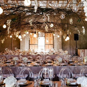 Industrial Rustic Wedding Decor