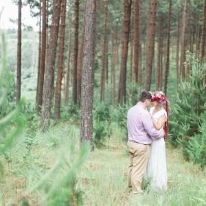 Bride & Groom in Forest
