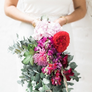 Bright Red, Pink & Purple Bouquet